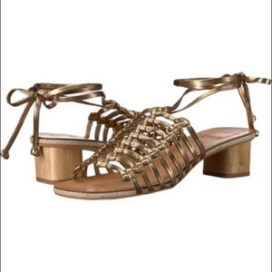 aaa9857b58e Dolce Vita NWOB Kai Gold Macrame Leather Sandals